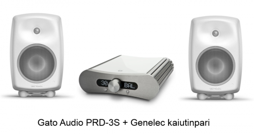 Gato Audio PRD-3S + Genelec G Three kaiutinpari